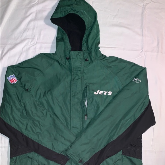 best sneakers 46cec 7ac86 New York jets winter coat SZ:LG Color black/green